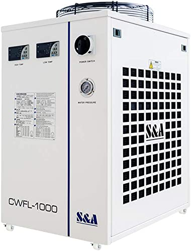 high quality US STock 1000BN Industrial Water Chiller S&A CW-FL-1000BN outlet online sale Industrial Water online sale Chiller for Cooling 1000W Fiber Laser 1.48KW 2.01HP AC 1P 220V 60Hz sale
