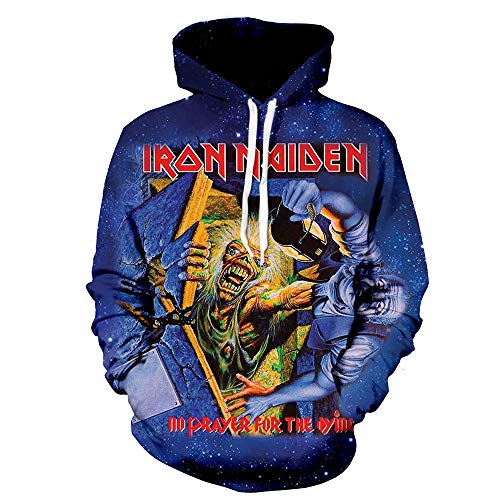 Iron Maiden Pullover Sudadera Capucha Manga Larga