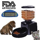 Happy&Polly Alimentador de Mascotas Automatico 5L para Perros Gatos Comederos...