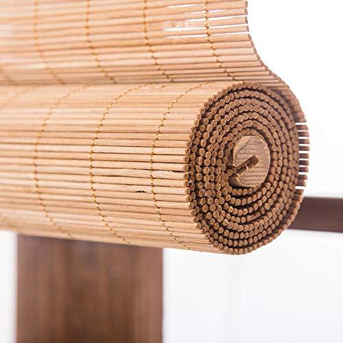 Bamboo curtain Cortina de bambú apagón persiana salón salón de té Cortina balcón balcón Oficina Cortina de partición Retro