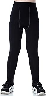 Boy's Sports Running Stretch Pants Compression Football Legging