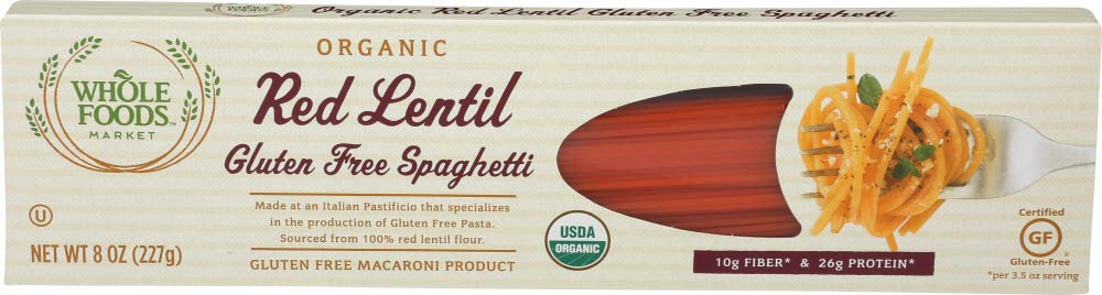Whole Foods Market Organic Red 8 Free Lentil Selling rankings Spaghetti Gluten Direct store