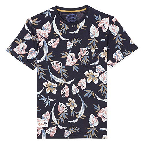Oxbow N1TASLO Tee shirt manches courtes imprimé Homme, Bleu (Deep Marine), XXL
