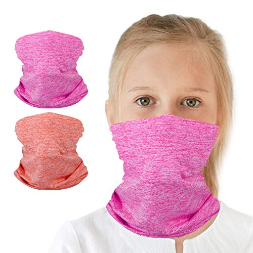 Neck Gaiter Bandana Girl Boy, Magical Multi Function,Half Face Protective Balaclava, Kids Headwear, Toddler Headgear, Infinity Scarf, Safety Head Cover for Saliva and Anti-Dust Protection