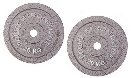 POWRX Discos Hierro Fundido 20 kg Set (2 x 10 kg)...