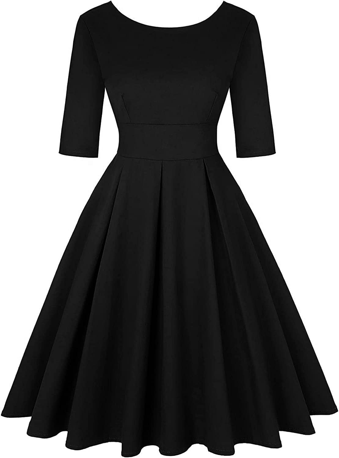 Women's 50s Vintage Dresses Boat Swing SEAL Baltimore Mall limited product Cocktail Neck Retro Dress