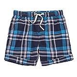 Mud Pie Summer Baby Toddler Boy Marco Polo Plaid Shorts 15200025 (Blue, Medium)