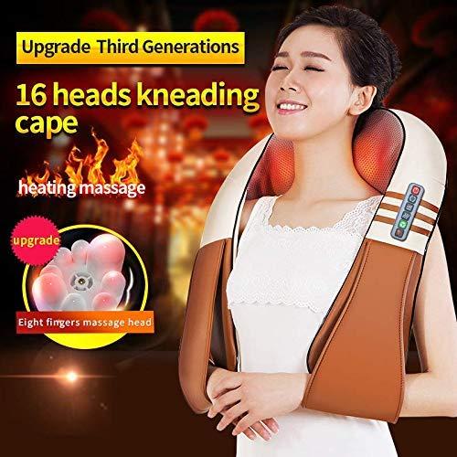 (Con caja de regalo) JinKaiRui eléctrico forma u hombro posterior del cuello Shiatsu masajeador corporal térmicos infrarrojos amasar Massagem Car/Home
