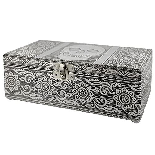 Vintage Jewelry Box Case | 9 Styles | Bronze or Silver Metallic Metal...