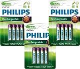 PHILIPS HR03AAA batterie (1.000mAh, 1,2V, batterie Ricaricabili) 12Pezzi