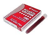 PILOT Lot de 3 Boites de 6 Cartouches d'encre pour stylo Parallel Pen Rouge