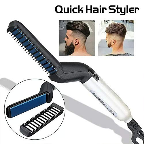 Yaobuyao Ionique Barbe redressage Peigne, Barbe Styling redressage Brosse pour Barbe Chauffage Portable Hommes Lisseur Feature mitigeurs