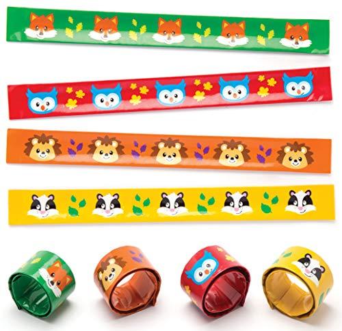 """Baker Ross Schnapparmbänder """"Waldfreunde"""" für Kinder – perfekt als kleine Partyüberraschung für Kinder (4 Stück)"""