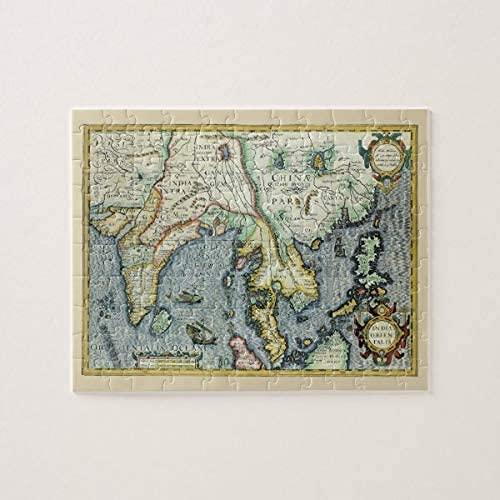 Rompecabezas de 500 piezas para adultos Mapa asiático antiguo del siglo XVII, Mercator/Hondius Rompecabezas de 500 piezas, Rompecabezas para adultos y niños Rompecabezas Intelectual Descomprimiendo
