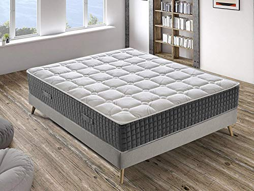 Materassiedoghe - Colchón viscoelástico desenfundable de memory foam con 7 zonas diferentes para cama individual (9cm, 25cm de altura) 90x190