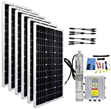ECO-WORTHY 36V Solar Power System, 600W Mono Solar Panel + Max Flow 1600L/H Max Head 80M 3'' Well Submersible Pump 400W + MPPT Controller for Irrigation Water Supply, Circulation, Garden Fountains