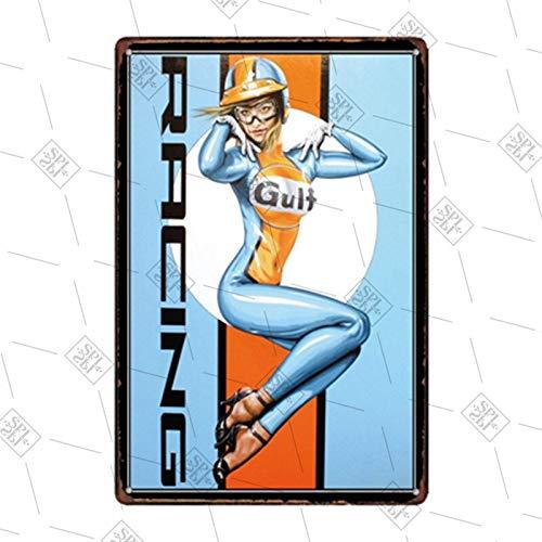 Hojalata Tablero de tarjeta decorativo retro GNK Champion Garaje Estación de servicio Etiqueta de la pared Letrero de metal Placa de hojalata Decoración de la pared Decoración del hogar 20x30cm 14