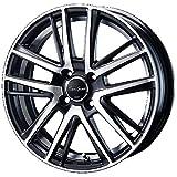 【適合車種:ホンダ N WGN(JH系 NA車 4WD)2013~ サマータイヤセット】 DUNLOP LEMANS V LM5 165/50R16 夏用タイヤとホイールの4本セット アルミホイール:BLEST ユーロスポーツ シャンドリーSE_セミグロスブラックポリッシュ 5.0-16 4/100 (16インチ サマータイヤセット)