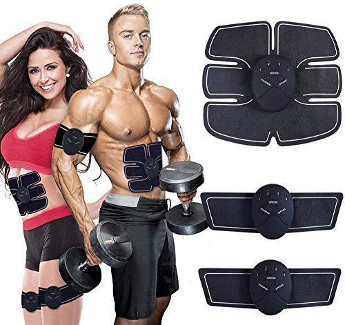 PERF Eléctrica Estimulación Muscular,Herramientas Abdominales ABS, estimulador Muscular Profesional para Abdomen/Brazo/piernas, Entrenamiento físico y Muscular para Hombres y Mujeres