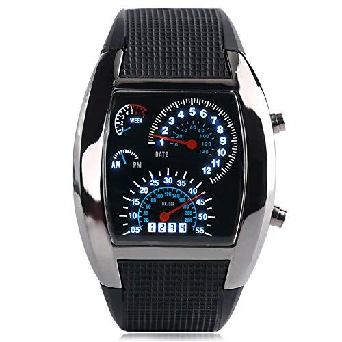 Relojes De Alfa – Reloj tipo velocimetro con luz LED, deportivo estilo tacometro de auto, carro o…