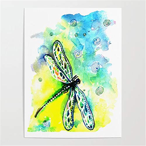 Diy oil painting by numbers Color dragonfly Paint by Numbers Kits for Adults Children Seniors Junior Acrylics30x40cm no frame