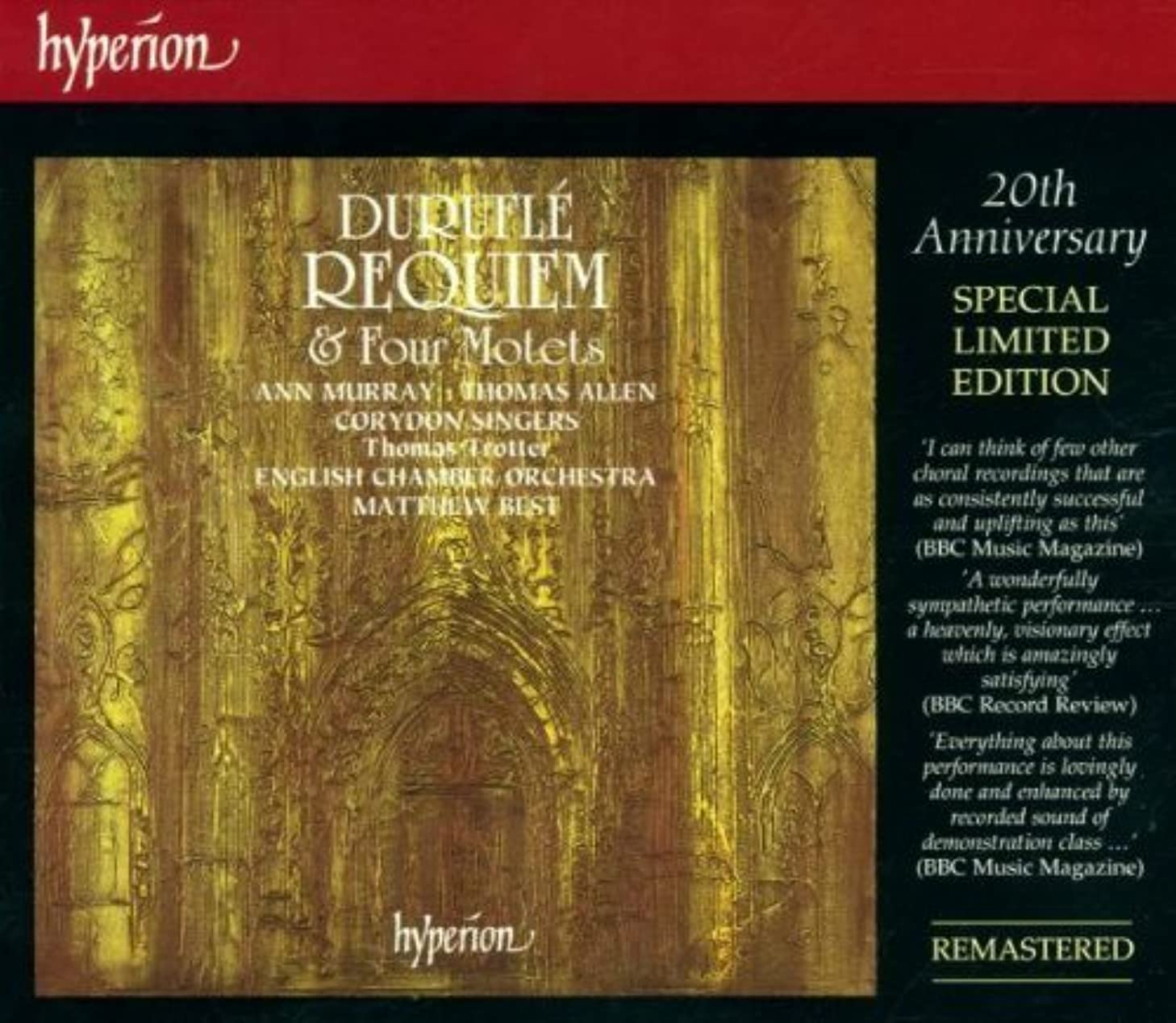 Durufule:Requiem & Four Motets by Harmonia Mundi USA