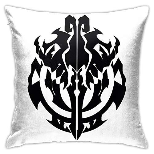 Overlord Emblema Colorear Graffiti Funda de Almohada Decoracion Kit de Artesanía Linda Funda de Almohada Cuadrada 45,72 cm x 18 pulgadas