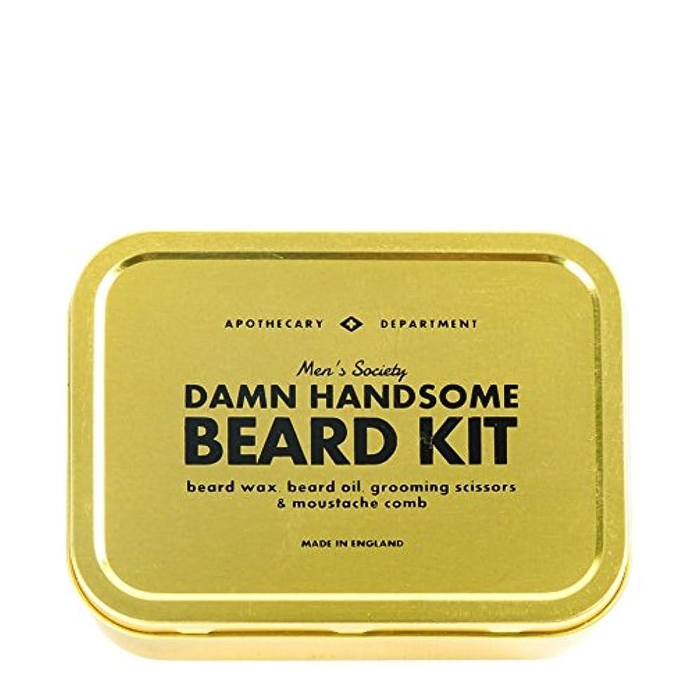 翻訳仕える複製するMens Society Beard Grooming Kit (Pack of 6) - メンズ社会ひげグルーミングキット x6 [並行輸入品]