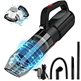 SONRU Handheld Vacuum Cordless, Rechargeable and Portable Vacuum Cleaner with LED Light for Home Car Office, Powered by Li-ion Battery, Wet Dry Clean, Dual HEPA Filters