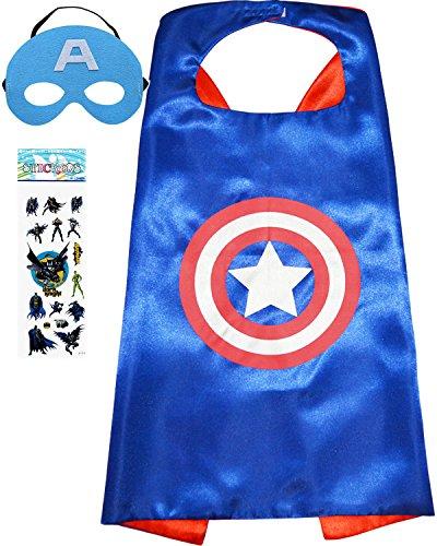 Captain America Satin Cape and Felt Mask