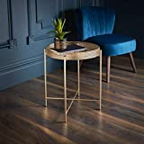 AJ Gold Tray Table Side Coffee END Tea Table Stunning Gold Colour Living Bed Room