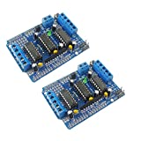 KKHMF 2個 L293D モータ ドライバー拡張ボード 基板モーター モータ制御シールド Arduinoと互換 「国内配送」