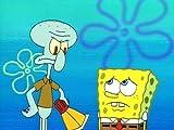 Sandy, SpongeBob and the Worm/Squid on Strike
