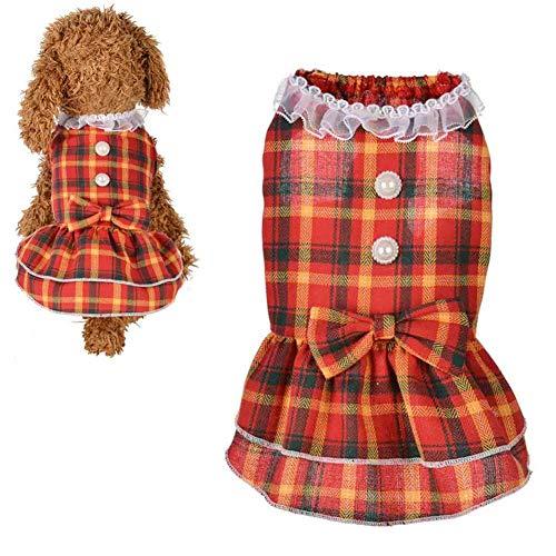Hond Jurken Puppy Jurk Hond Jurk Voor Grote Honden Hond Kleding Voor Kleine Honden Prinses Hond Jurk Leuke Hond Jurken Kat Kleren red,m