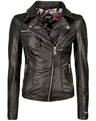 Maze Damen Biker-Jacke Mit Stickereien Alida L schwarz