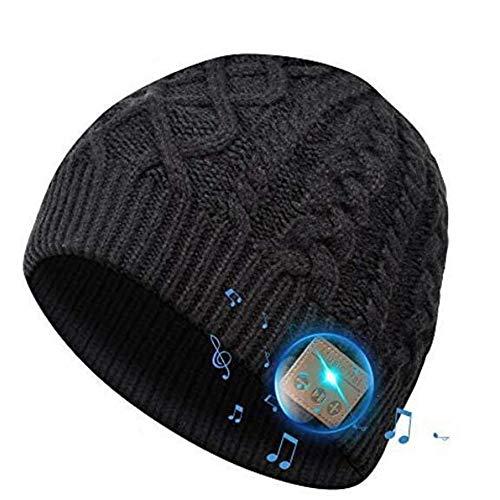 SOOFUN Geschenk für Frauen und Männer Bluetooth Mütze - Bluetooth 5.0 Bluetooth Mütze, Mütze mit Kopfhörern Bluetooth, Laufen, Skifahren, Radfahren Mütze mit Bluetooth Herren und Damen Geschenk