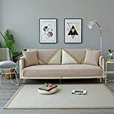 ktynskmx SofabezugLeinenbaumwoll-Sofatuchbezug Gepolsterte Sofabezüge Wohnzimmer Eleganter Sofa- und Sesselbezug Anbausofa in verschiedenen Größen, Beige, 70x210cm