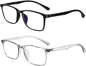 Tanlys 2 Pack Blue Light Blocking Glasses for Computer Eye Strain [Dry Eye & Sour Eye], Anti UV Reduce Headache Classic Bluelight Blocker Glasses Men Women