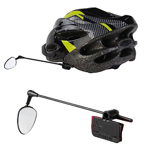 Helm-Spiegel-Radfahren, PChero 360 Grad-konvexer Fahrrad-Spiegel erweitern hintere Vision