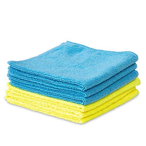 6er Set Mikrofasertuch - 32x32cm - Reinigungstuch, Putztuch in Gelb & Blau