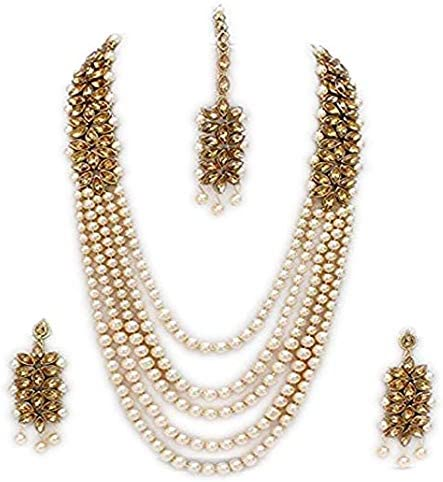 Vihan Bollywood New Complete Free Shipping Free Shipping Fashion Wedding Long Earrings Gold Necklace Tone