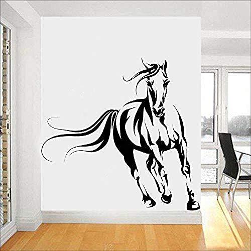 42x40cm Wildpferd im Galopp im Wind Wandsticker Kindergarten, Home Deco, Abnehmbare Aufkleber, wasserdichtes Wandposter, Pvc Tapete