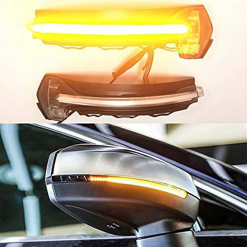 LED Dynamic Indicatori di direzione indicatore retrovisore laterale per A3 S3 RS3 8V, guscio trasparente