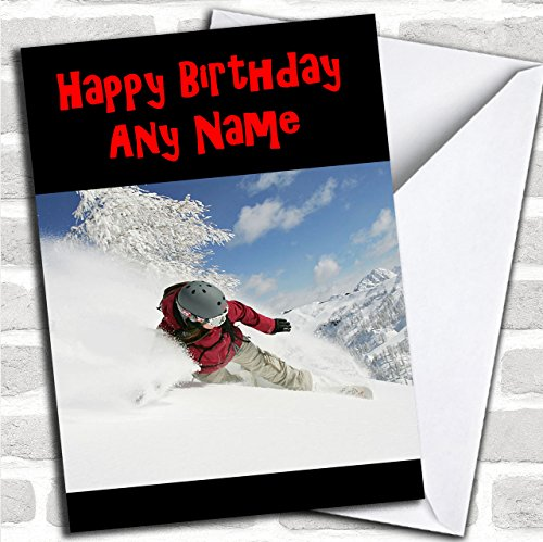 Snowboarden Aangepaste Verjaardag Groeten Kaart- Verjaardagskaarten/Sporten, Hobby's & Interesses Kaarten