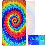Best Camp Towels - Microfiber Rainbow Tie Dye Beach Towel, Sand Free Review