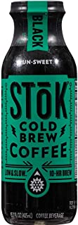 Stok Unsweetened Black Cold Brew Coffee, 13.7 Fluid Ounce -- 12 per case.