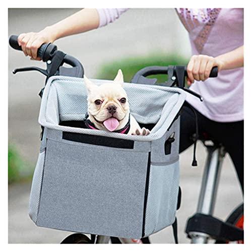 WAFFZ Cesta plegable de la bicicleta, pequeño portador del animal doméstico, bolso delantero del coche de la aleación de aluminio para la manija delantera de la