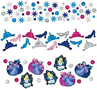 Cinderella Disney Princess Birthday Party Confetti Decoration, 1 Pieces, Made from Foil, Multicolor, 1.2 oz. by Amscan