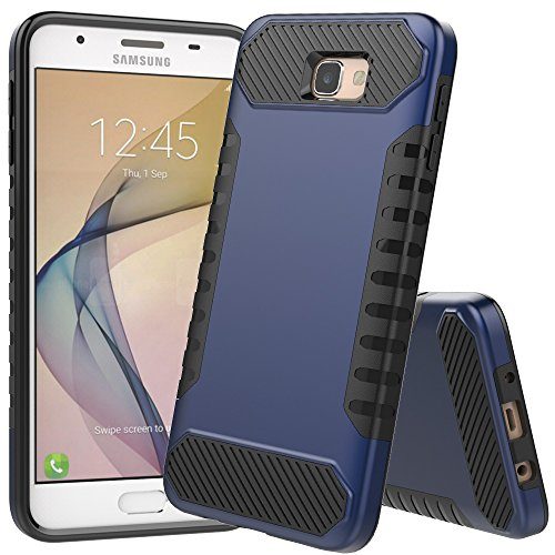 Galaxy ON52016Fall, Galaxy J5Prime Fall, jdbruian [Stoßdämpfung] Hybrid-Dual-Layer Armor Schutzhülle für Samsung Galaxy ON52016/J5Prime/G570, Marineblau