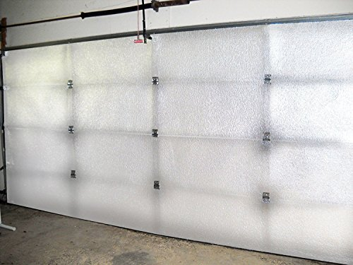 NASATech 10x8 White Foam Core Garage Door Insulation Kit 10L x 8H R Value & Made in USA / Heavy Duty Double Sided Tape (Use for 9x8, 9x7 and 10x7 as well)